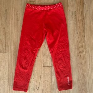 Red legging - made in Italy